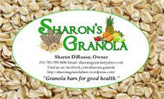 Sharon's Granola business card