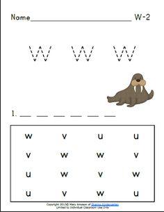 Sharing Kindergarten: Letter Ww