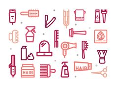 Hair Salon Free Icons by Sooodesign