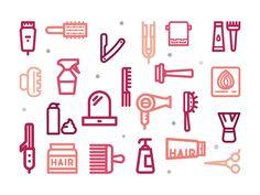 Hair Salon Free Icons by Sooodesign