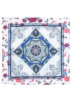 962903ef90e Klasický saténový  átek Ornament krémovo-modrá - bpc bonprix collection -  koupit online -