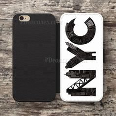 NYC Wallet Case For iPhone 6S Plus 5S SE 5C 4S case, Samsung Galaxy S3 S4 S5 S6 Edge S7 Edge Note 3 4 5 Cases