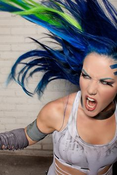 Alissa White-Gluz LOVES Manic Panic® Rockabilly Blue and Electric Lizard hair dye! <3