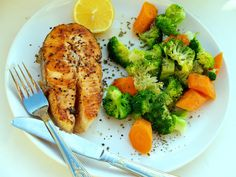 The easiest and healthiest recipe of salmon steak with stirred veggies
