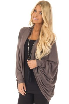 b1646b3fe5 SMALL Lime Lush Boutique - Cocoa Loose Fitting Cardigan