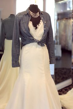 Inspiration for the perfect woodland wedding dress style by MEG Wedding Jewelry.