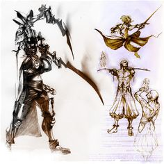 Sketches inspired from Vagrant Story and FFXII.