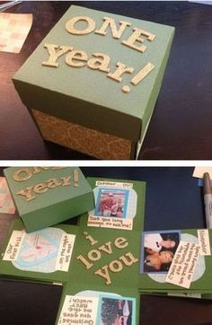 The Exploding Box for One Year Anniversary #anniversarygifts #boyfriendgift #boyfriendanniversarygifts
