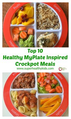 Top 10 Healthy MyPlate Inspired Crockpot Meals - 10 Easy Ways to Make a Nutritionally Balanced Meal http://www.superhealthykids.com/top-10-healthy-myplate-inspired-crockpot-meals/