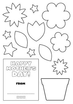 Flower pot pattern. Use the printable outline for crafts