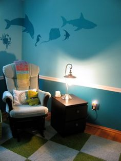 Paint idea  --- get vinyl fish designs from Simply Said!  mysimplysaiddesigns.com/nancy