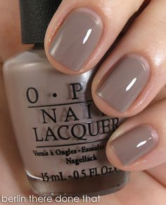 opi-berlin there done that... Just bought it and I LOVE it, really chic. It's the perfect substitution for my empty Particulière de Chanel bottle :p