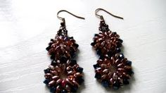 beading earrings tutorial - YouTube
