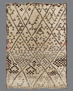 vintage Moroccan rug, Beni Ouarain #BO102