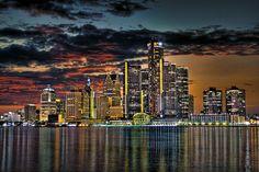 Detroit Skyline by NightFox Photography, via Flickr