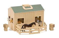 Melissa & Doug - 13704 - Loisir Créatif - Étable en bois pliante et portative: Amazon.fr: Jeux et Jouets