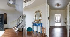 As the first space a guest enters when they visit your home, it is a must for the front entry to welcoming. Take a look at this large front entry design in a beautiful historic home. Click the link to see more! Front Entry, Entryway, Stairs, Furniture, Design, Home Decor, Entrance, Ladders, Homemade Home Decor