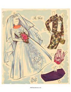 Bride paper doll