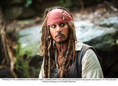 Jack Sparrow, one of my favorite characters ever, even if the films as a whole are only so-so.