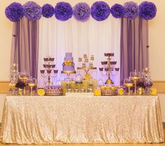 Purple and Gold Dessert Table » mondeliceblog.com