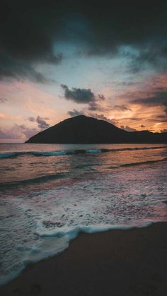 Beach Mountain iPhone Wallpaper - iPhone Wallpapers