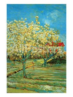 Orchard with Cypress by Van Gogh Landscapes Art Print - 46 x 61 cm
