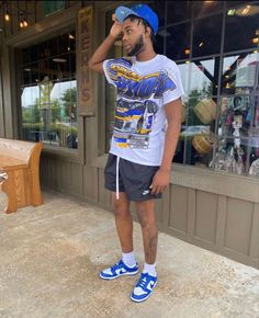 Dope Outfits For Guys, Swag Outfits Men, Summer Outfits Men, Chill Outfits, Boy Outfits, Street Style Outfits Men, Black Men Street Fashion, Men Fashion, Rapper Outfits