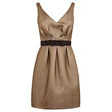 Buy Warehouse Jacquard Prom Dress, Gold Online at johnlewis.com