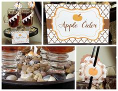 """I Am Thankful"" Thanksgiving Dessert Table - Printable Package - Kara's Party Ideas - The Place for All Things Party"