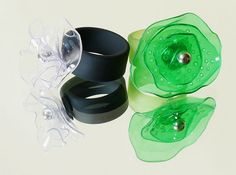 Hard to believe that this beautiful jewelry is made from recycled plastic bottles.