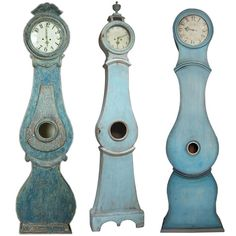 Blue Painted Mora Clocks