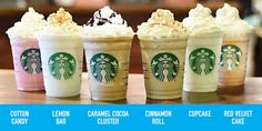 We rounded up every single Starbucks Frappuccino to date, and learned some history of the blended coffee drink in the process. We rounded up every single Starbucks Frappuccino to date, and learned some history of the blended coffee drink in the process. Starbucks Frappuccino, Frappuccino Flavors, Starbucks Drinks, Coffee Drinks, Starbucks Recipes, Free Starbucks Gift Card, Starbucks Secret Menu, Starbucks Wallpaper, Cinnamon Cupcakes