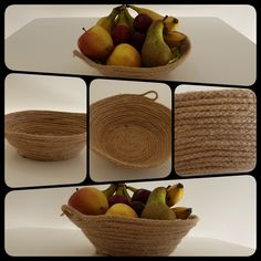 Jute rope Fruit bowl Handmade Hot glue Homemade DIY