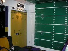 Boys Football Room Ideas | Love the wall.
