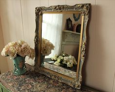 Exquisite Vintage Gold Wall Mirror Ornate by WildMountainStudio