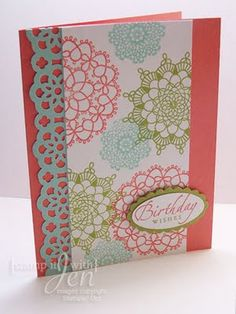 stamp it with Jen: delicate doilies