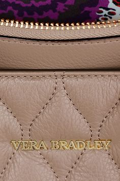 Who said taupe had to be boring? A look inside #verabradley reveals some serious personality. #togetherinstyle