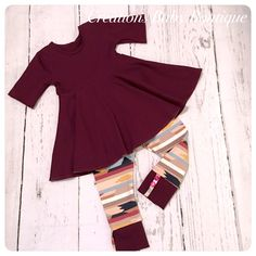 Baby girl dress top , leggings and headband , baby outfit , baby girl fall outfit newborn to 18-24 months by CreationsBabyB on Etsy https://www.etsy.com/listing/541842841/baby-girl-dress-top-leggings-and