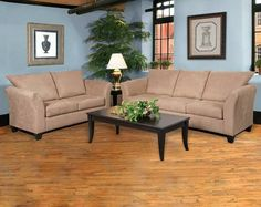 We have a wonderful living room package starting at just $398. In this package you get a sofa, loveseat, two end tables a coffee table, and two lamps. We have this special going on until supplies run