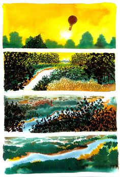 The River: Exploring the Inner Seasonality of Being Human in Gorgeous Watercolors by Italian Artist Alessandro Sanna   Brain Pickings