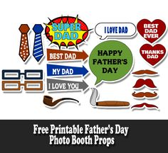 On this page we are sharing some Free Printable Father's Day Photo Booth Props. You can use these props to have some Father's day fun with your dad. Fall Photo Booth, Photo Booth Frame, Photo Booth Backdrop, Picture Backdrops, Photo Props, Happy Fathers Day Photos, Fathers Day Quotes, Vintage Modern, Father's Day Games