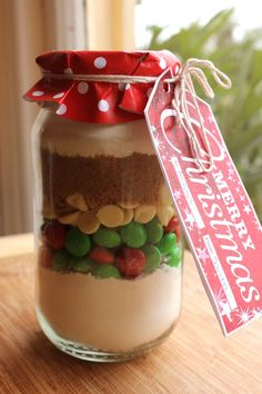 Elf Cookie Mix In A Jar - Christmas Gift Ideas