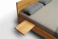 Schlichtes Twice Bett aus Eiche massiv geölt - beste Qualität in Material und Verarbeitung - InteriorPark.