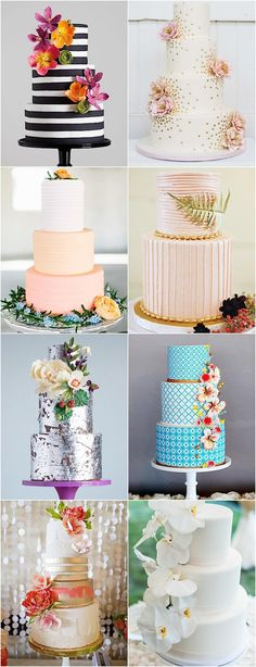 25 Spectacular Wedding Cakes for the Creative Bride - MODwedding Diy Wedding Cake, Amazing Wedding Cakes, Wedding Cake Designs, Wedding Cake Toppers, Amazing Cakes, Gorgeous Cakes, Pretty Cakes, Cute Cakes, Wedding Cake Inspiration