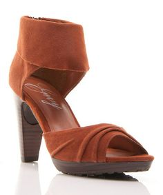 Another great find on #zulily! Cognac Suede Rachael Ankle Sandal #zulilyfinds