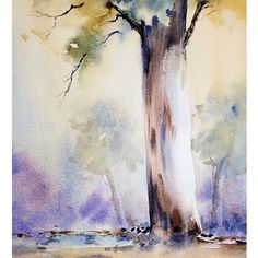 "68 Likes, 5 Comments - Sujit Sudhi (@sujitsudhi) on Instagram: "":: Morning Snow :: :: Watercolour :: . . . . . . . . . . #watercolor #watercolour #indianart…"""