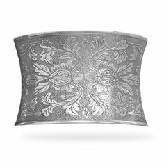 Concave Oxidized Floral Cuff Bracelet LaneMax Jewelry. $257.99. 44mm concave oxidized sterling silver cuff bracelet with ornate floral design. .925 Sterling Silver. Save 36% Off!
