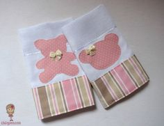 Kit Fraldinha de boca - Ursa rosa