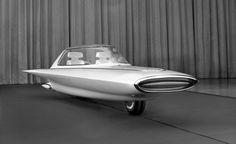1961 Ford Gyron concept - two wheel self-balancing car held up by gyroscopes.