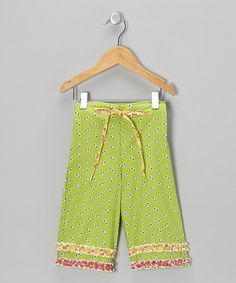 Take a look at this Bright Lime Katie Capri Pants - Infant by Moxie & Mabel on #zulily today!